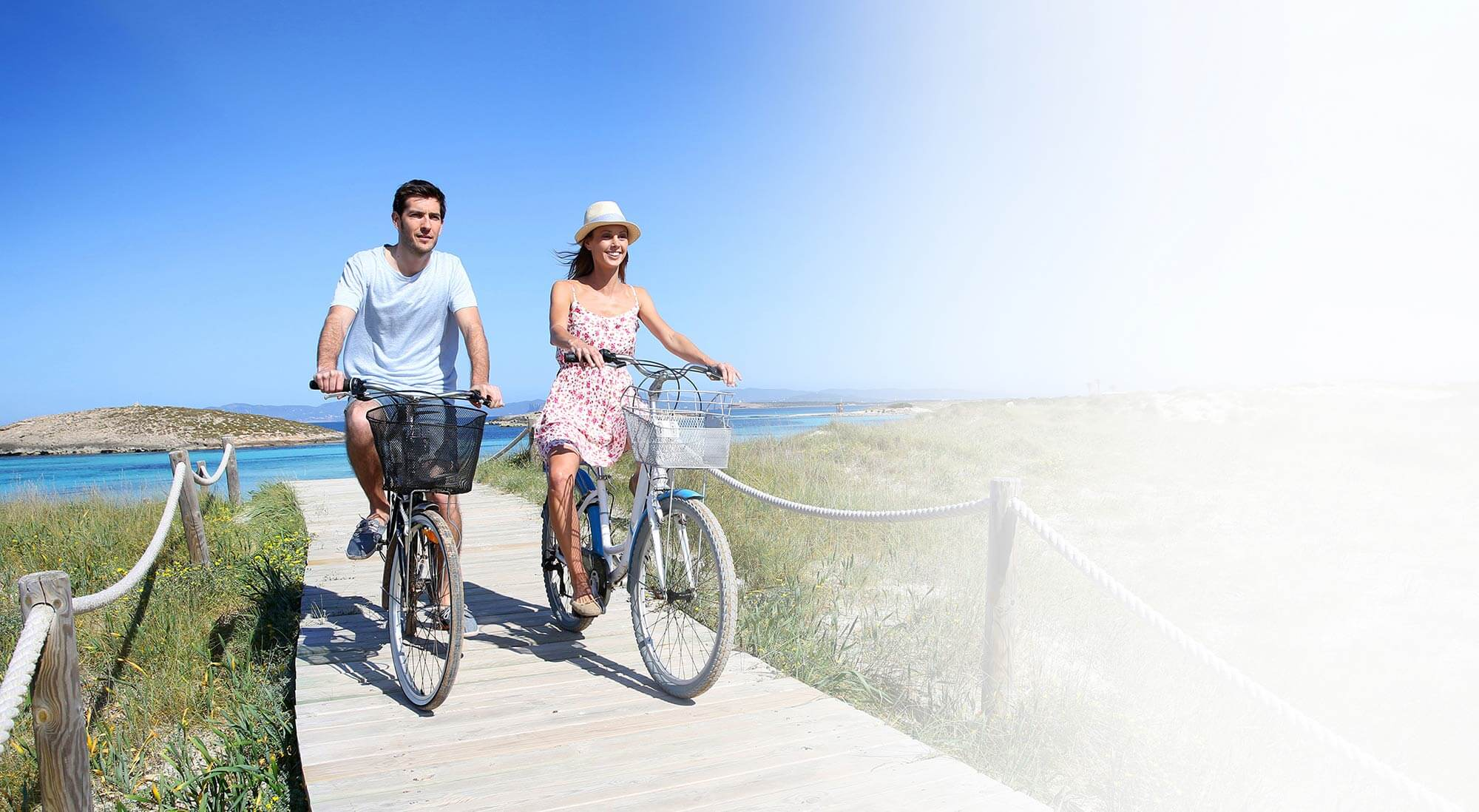 Couple riding bicycles | DVT Diagnosis in Seattle